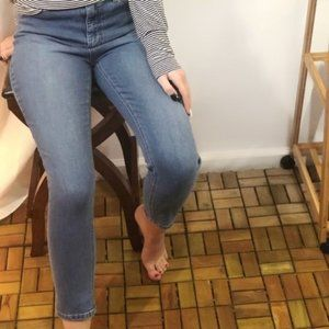 FREE PEOPLE Skinny Button Fly Light Jeans 30